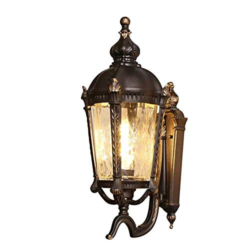 Retro mini lámpara pared soporte pared exterior luces