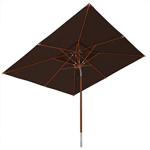 anndora® Sonnenschirm Knicker 3 x 3 m eckig wasserabweisend - mit Dreh-Kipp-Mechanismus
