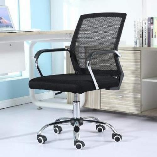 ZHAODONG Qualitätsprodukte Einfache Haushaltsgitter Computer Stuhl Konferenzstuhl Schwarz Rahmen Hebe Schiebe Rollstuhl (Schwarz) (Color : Black)