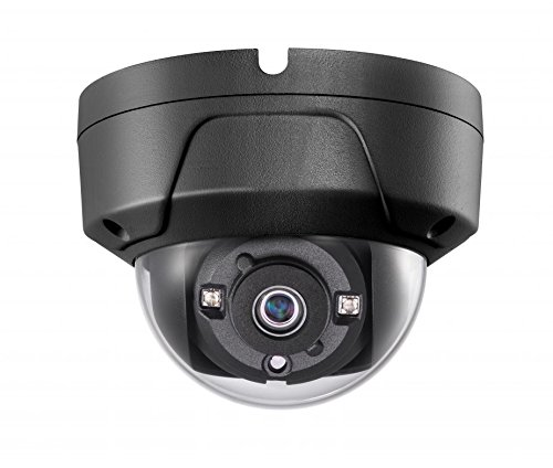4MP PoE Security IP Camera - Compatible with Hikvision Performance Series DS-2CD2145FWD-I Black Mini Dome EXIR Night Vision 2.8mm Fixed Lens H.265+ 3 Year Warranty