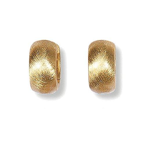HEIDE HEINZENDORFF Creolen Lili Gold Satiniert, 8-12 x 15 mm