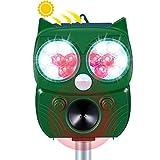 動物撃退器 害獣撃退器 猫よけ 超音波 ソーラー充電 猫撃退 糞被害 鳥害対策 ソーラーとUSB充電式 警報音/光と超音波で撃退 IP66防水 5モード 13.5~45.5KHzの超音波 強力フラシュ 10m感知範囲 差し込むと壁掛け型 二つ設置方法 猫/鳥/ネズミ/犬/狐/コウモリ/アライグマなどの動物撃退 庭園/農場/駐車場/公園/果樹園など保護 日本語マニュアル PSE認証