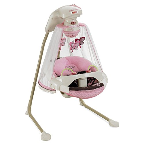 Fisher-Price - Papasan Cradle Swing, Mocha Butterfly