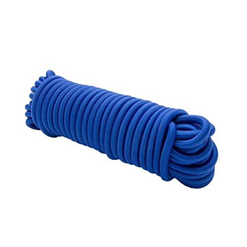 Corda elastica in gomma da 100 m, colore Bianco, 10 mm, cavo elastico per tendere teloni, bloccare e fissare
