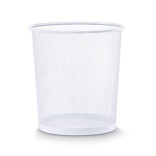Zeller 17716 Papierkorb, Mesh, ø 26 x H 28 cm, weiß