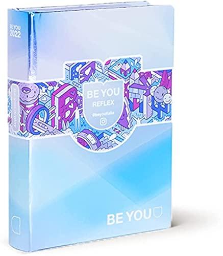 DIARIO SCUOLA Be You Be REFLEX - u Be yourself POCKET Azzurro metallo 2021-2022 + omaggio penna multicolore profumata e portachiave con paillettes