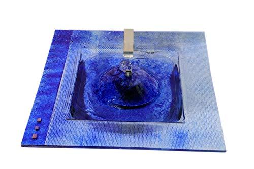 Atelier Klotz Zimmerbrunnen Glas Wasserspiel Handarbeit