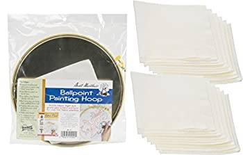 Aunt Martha s Ballpoint Metal Painting Hoop 10 inches Bundle with Replacement Blotters 12 Sheets