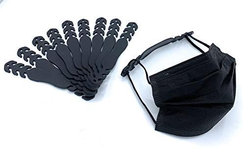 Extensores para mascarillas negros 10X extensores de silicona negros extensor mascarilla silicona negros, salva orejas para mascarilla, agarre de mascarilla, extensores mascarillas todos negros