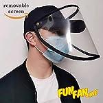 FUN FAN LINE - Gorra de béisbol con Pantalla o máscara Facial Protectora Transparente para Mayor Seg... #3
