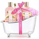 Spa Luxetique Coffret de Bain pour Femme, 8 Pièces, Parfum de Rose, Coffret Cadeau pour l'Anneriversaire et des Fêtes