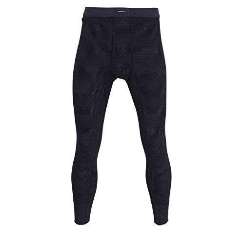 Götzburg Herren Lange Unterhose, Baumwolle, Feinripp, blau, gestreift, mit Bündchen, offener Eingriff 8