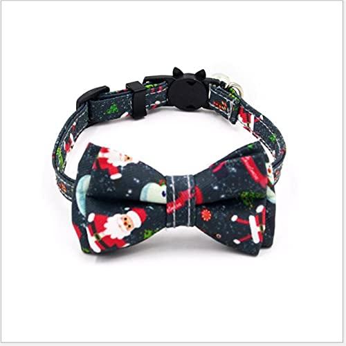 DHZYY Collar de Gato de Navidad, con Campana for Gatos Pequeños Perros Perry Kitty Cat-Collar Productos for Mascotas Collar de Gato for Gatitos Accesorios Bowknot (Color : D, Size : X-Small)