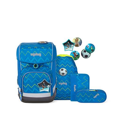 ergobag cubo light Set - ergonomischer Schulrucksack, extra leicht, Set 5-teilig, 780 g - LiBäro 2:0 - Blau