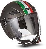 MOTO Helmets - Casco da moto U52 con visiera ECE e chiusura rapida