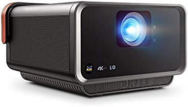 ViewSonic True 4K UHD Shorter Throw LED Portable Smart Wi-Fi Home Theater Projector Harman Kardon Speakers 3D Ready HDMI USB Type C(X10-4KE)