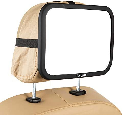 Baby Car Mirror Most Stable Backseat Mirror with Premium Matte Finish Super Clear PMMA Material product image
