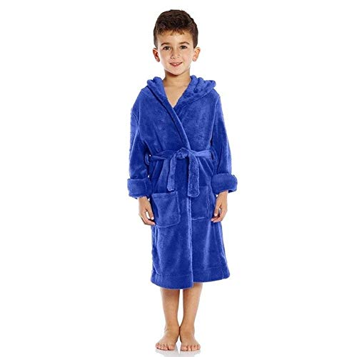 Kinder Kinder Flanell Kapuze Bademantel für Jungen Mädchen verdicken Schlafroben Bademäntel Kleinkind Baby Kleinkind Strandtücher Pyjamas-a17-M Height 105-115cm