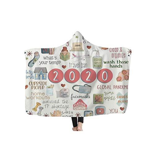 Sarari Winter warme Decke, 2020 Epidemische Thema 200 * 150cm weiche Flauschige Plüsch Decke Decke Decke Schlafen Abdeckung Bettwäsche wirft Bettlaken Quilts für Kinder Erwachsene