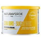 Naturaverde Cera Depilatoria Professionale Idrosolubile con Miele, Limone e Zuccher 400 ml