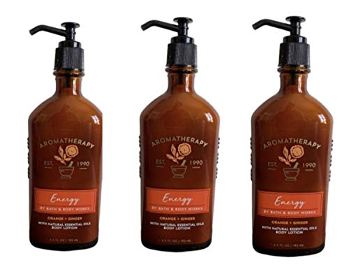 Bath & Body Works Aromatherapy Energy - Orange + Ginger Body Lotion, 6.5 Fl Oz, 3-Pack