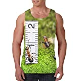 HARLEY BURTON Men's Tank Tops Mushrooms and Ants Graphic Sleeveless Shirts for Beach Summer