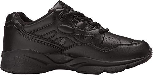 Propet Men's Stability Walker Sneaker, Black, 11 5E US