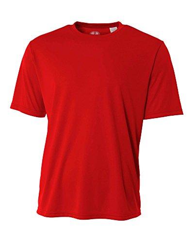Mens Rash Guard Surf Swimwear Swim Shirt SPF Sun Protection Loose Fit Fitting Red