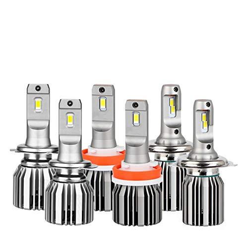 Luces De Coche LED H4 20000LM 9012 HIR2 H11 Lámpara LED Para Bombillas De Faros Delanteros De Coche H1 H8 9005 9006 HB3 HB4 Turbo H7 Bombillas LED Auto Nebbia Fácil Instalación ( Socket Type : H11 )