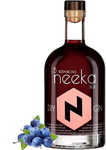 neekaSLOE | Schlehenbeeren-Gin Likör | 0.5 L | Premium Sloe Gin & Handcrafted in the Black Forest – Germany | 100% Sloe-Gin Geschmack