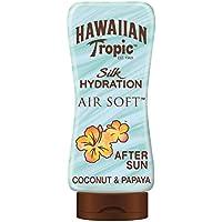 Hawaiian Tropic AfterSun Air Soft - Loción Hidratante Ultra Ligera para Después de la Exposición al Sol, Fragancia Coco y Papaya, Verde, 180 ml
