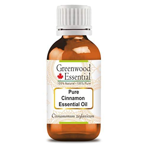 Greenwood Essential - Aceite esencial de canela (Cinnamomum zeylanicum) de calidad prémium y grado terapéutico para aromaterapia y el cuidado de la piel y el cabello, 15 ml