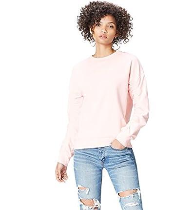 Marca Amazon - find. Chaqueta Asimétrica con Cremalleras para Mujer, Rosa (Soft Peach), 38, Label: S