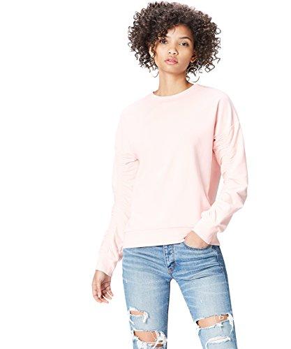 Marca Amazon - find. Chaqueta Asimétrica con Cremalleras para Mujer, Rosa (Soft Peach), 36, Label: XS