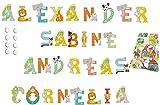 4 Sevi Holzbuchstaben Tiere für Wunschname inkl Geschenkverpackung Türbuchstaben Kinderbuchstaben Holz Dekobuchstaben (4 Holzbuchstaben)