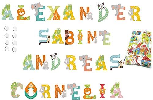 5 Sevi Holzbuchstaben Tiere für Wunschname inkl Geschenkverpackung Türbuchstaben Kinderbuchstaben Holz Dekobuchstaben (5 Holzbuchstaben)