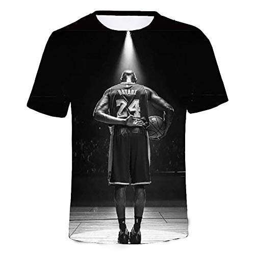 PZJ Herren Kobe Bryant T-Shirt R.I.P. Basketball Player Kurzarm Sport T Shirt Stil01 Medium