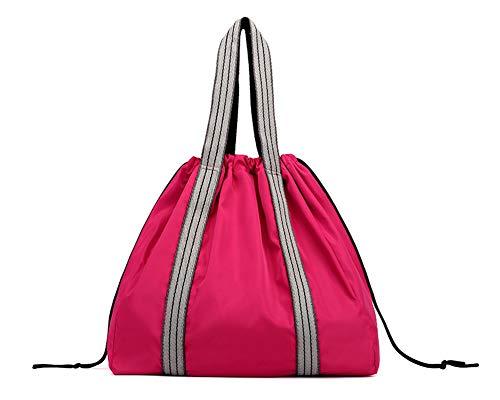Wickeltasche für alle Ihre Baby-Bedürfnisse Eimer Tasche Große Kapazität Umhängetasche für die Reise Rose Red