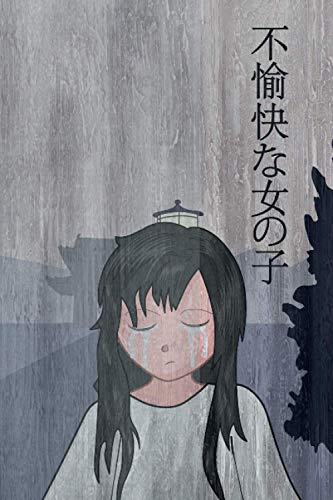 Sad Anime Girl: blue color japanese background cover notebook diary Anime Manga E-Girl E-Boy Weeb Empty notebook diary logbook sketchbook DIN A5 120 dotted lined pages