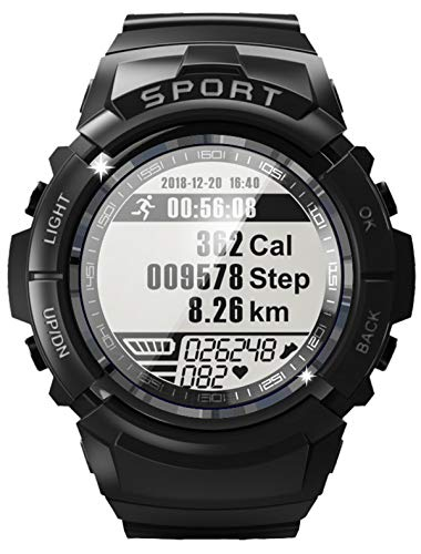 Mens Military Outdoor Sports Watch Compass Heart Rate Monitor Pedometer Calorie Counter Waterproof Digital Watch