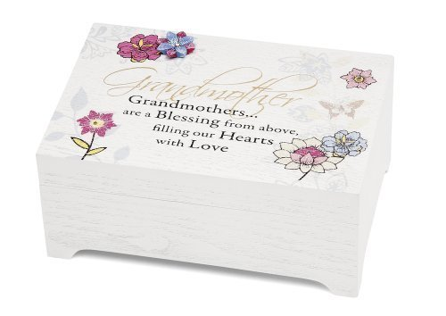 Mark My Words 6 by 4-Inch Grandmother Sentiment Tune Music Box, Edelweiss by Pavilion Gift company
