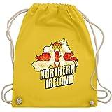Shirtracer Länder - Northern Ireland Umriss Vintage - Unisize - Gelb - EM - WM110 - Turnbeutel und Stoffbeutel aus Baumwolle