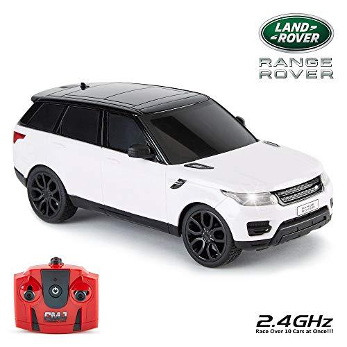 CMJ RC Cars  Range Rover Sport Telecomando con licenza ufficiale Auto Scala 1:24 Luci di lavoro 2.4 Ghz Bianco