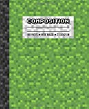 Composition: Wide Ruled Writing Notebook For Boys and Girls, Green Pixel Gamer Pattern Blank Lined Book