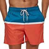 SILKWORLD Men's Quick Dry Swim Trunks with Mesh Lining Funny...