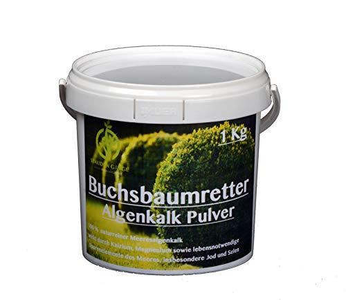 Stauden Gänge Algenkalk Pulver 1kg im Eimer/Buchsbaumretter/Das Original/mit Anleitung/Buchsbaum Kur/Buchsbaumdünger