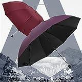 Paraguas Hombres Lluvia Mujer A Prueba De Viento Grandes Mujeres Hombres Sol Paraguas Paraguas Soleado Y Lluvioso Paraguas No Automático (Color : Black)