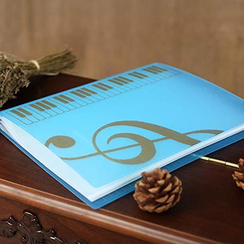 80 vellen A4 Muziekboekmappen Piano Score Band Choral Insert-Type Map Multifunctionele Bestand Opslag Producten Muziek benodigdheden Blauw