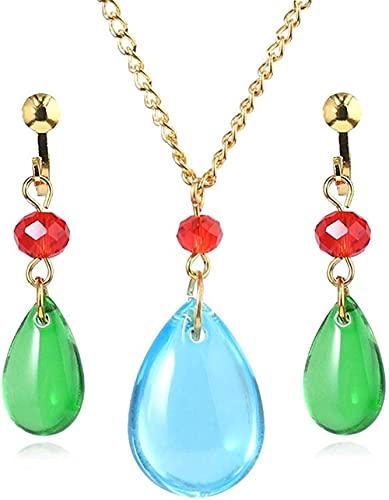 Howl's Moving Castle Cosplay Ohrringe und Halskette – Halle Ohrringe Halskette Neuheit Charm Ohrringe – gut für Frauen und Mädchen (A)