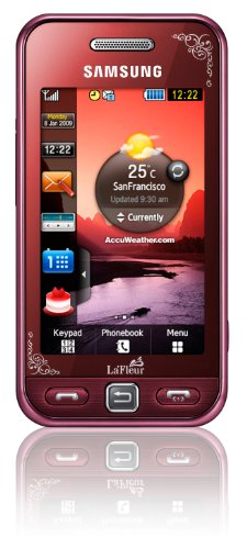 Samsung Star S5230 Smartphone (Touchscreen, 3MP Kamera, Video, MP3-Player, Bluetooth) garnet-red -. La Fleur